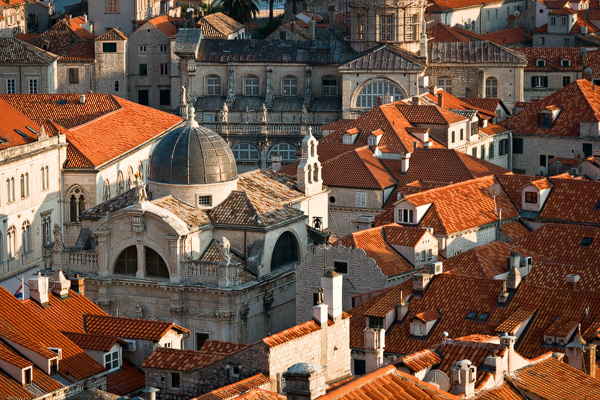 Roofs of the old city of Dubrovnik