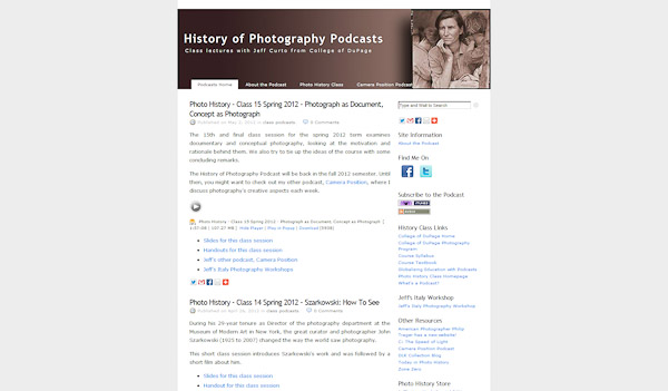 History of Photography Podcasts