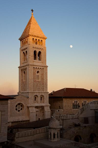 Wieża kościoła Zbawiciela na Muristnie w Jerozolimie