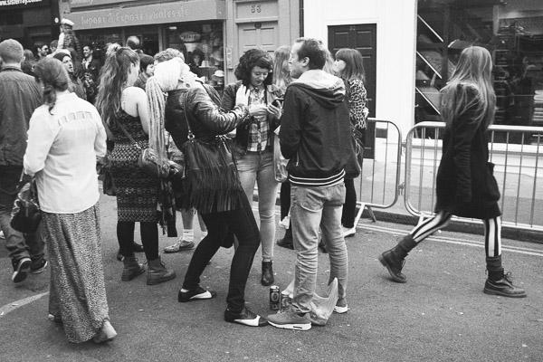 People on Berwick Street, London